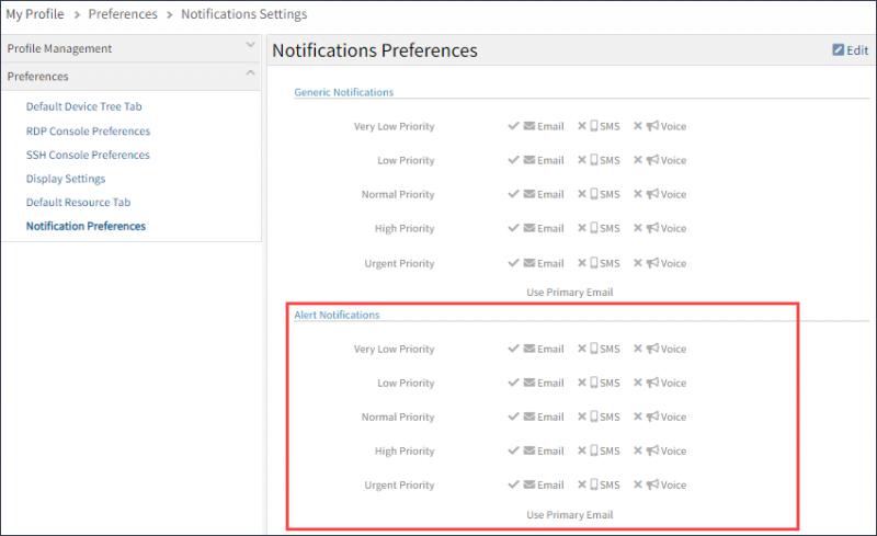 Notification Preferences