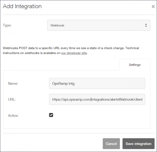 Add Integration Details