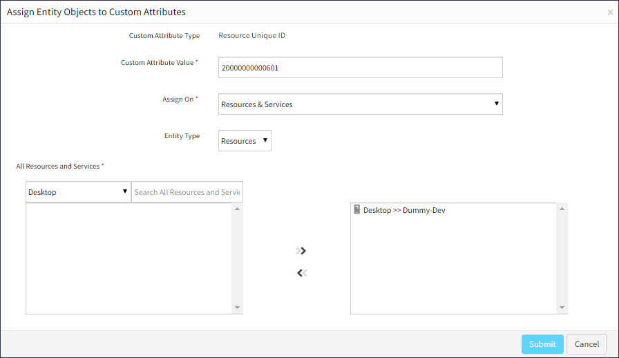 Assign Custom Attribute Value to a Resource
