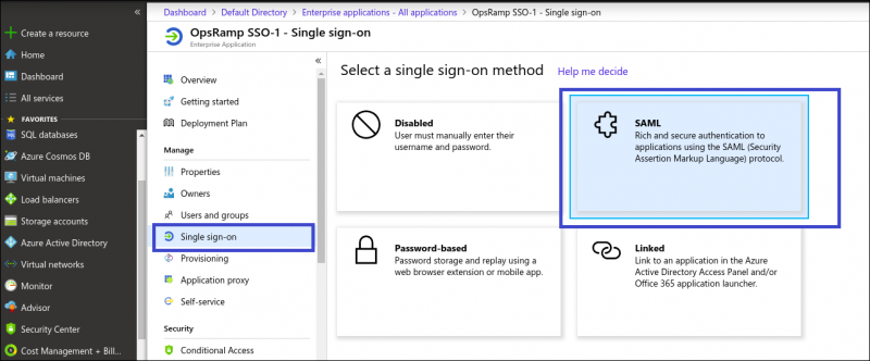 OpsRamp Single sign-on SAML