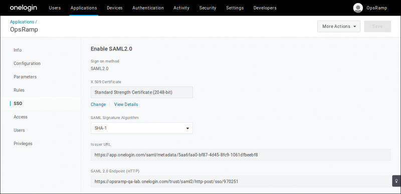 Enable SSO SAML 2.0